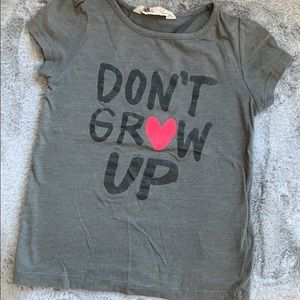"""Sparkly """"Don't Grow Up"""" tee"""